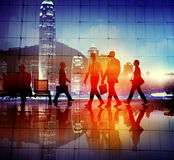Business People Walking Commuter Rush Hour Concept.  Royalty Free Stock Photos
