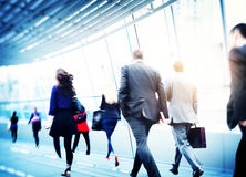 Business People Walking Commuter Travel Motion City Concept.  Royalty Free Stock Photography
