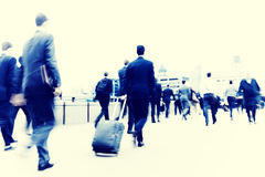Business People Walking Commuter Travel Motion City Concept Stock Images