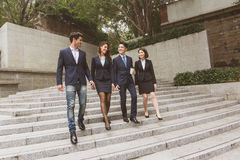 Business people walking Royalty Free Stock Photos