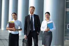 Business people walking Stock Photos