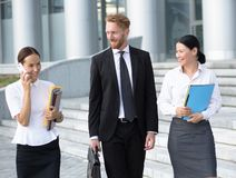 Business people walking Stock Image