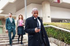 Business People Walking Through La Defense, Paris, France Royalty Free Stock Photo