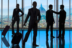 The business people walking in the office center Royalty Free Stock Photography