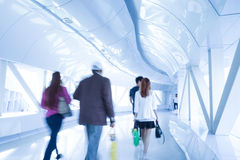 Business people walking in the office corridor. Royalty Free Stock Image