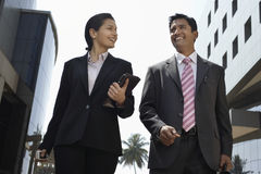 Business People Walking Outdoors Stock Photography