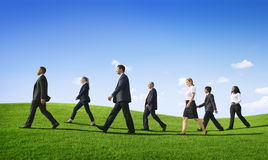 Business People Walking Outdoors the Way Forward Stock Images