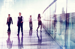 Business People Walking Professional Urban City Concept.  Royalty Free Stock Image