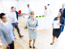 Business people walking on rush hours Royalty Free Stock Photos