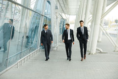 Business People Walking in the street stock image