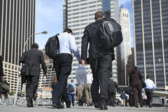 Business people walking on the street Royalty Free Stock Photo