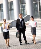 Business people walking Royalty Free Stock Images