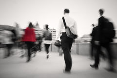 Business People Walking To Their Workplace.  Royalty Free Stock Image