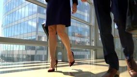 Business people walking stock video footage