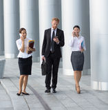 Business people walking Stock Photography