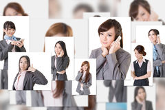 Business people wall Stock Images
