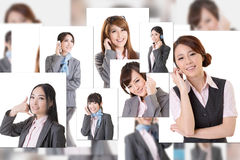 Business people wall Royalty Free Stock Photo