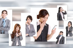 Business people wall Royalty Free Stock Photos