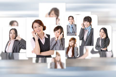 Business people wall Stock Image