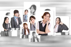 Business people wall Stock Photography