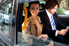 Business people on the way to attend meeting Royalty Free Stock Photo