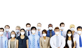 Business People Wearing Medical Mask Concept Stock Images