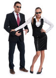Business people wearing sunglasses Stock Photos
