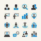Business People - web icons set Royalty Free Stock Photos
