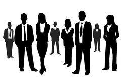 Business people. On white background Royalty Free Stock Photography