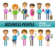 Business people on a white background. A set of Royalty Free Stock Photo