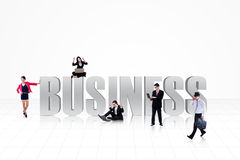 Business people on white Royalty Free Stock Images