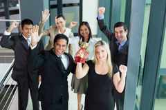 Business people wining Stock Photography