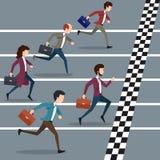 Business people winning marathon Royalty Free Stock Images