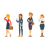 Business people woman character vector illustration. Stock Image