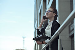 Business people - woman on smart phone, Stock Photos