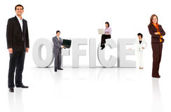 Business people with word office Stock Image