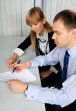 Business people work Stock Images