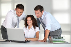 Business people at work Royalty Free Stock Photos