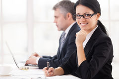 Business people at work. Royalty Free Stock Photography