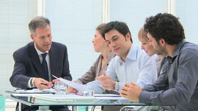 Business people work in group stock footage