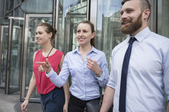 Business people after work Royalty Free Stock Photos