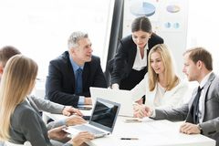 Business people work with laptop Stock Photography