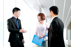 Business people work in the office to discuss Royalty Free Stock Images