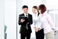Business people work in the office to discuss Stock Photo