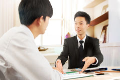 Business people work in the office to discuss Stock Images