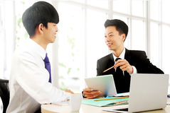 Business people work in the office to discuss Stock Photos