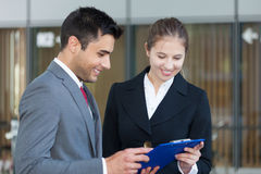 Business people at work Royalty Free Stock Images