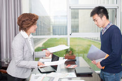 Business people work relations Stock Photos