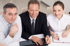 Business people at work. Royalty Free Stock Images