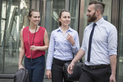 Business people after work Stock Photo